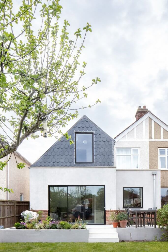 The Double Storey Extension On A Semi Detached House