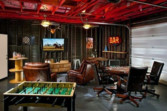 Create A Man Cave Or Second Living Room